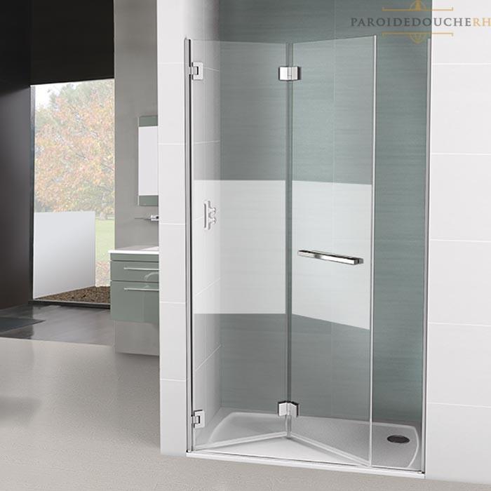 paroi de douche portes pliantes