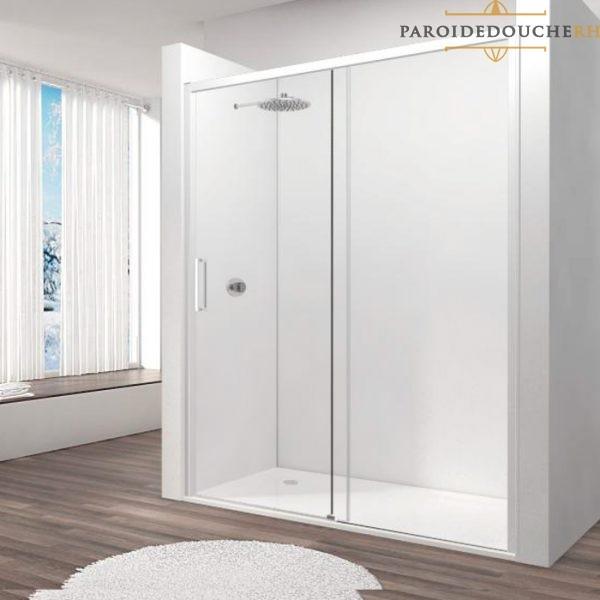 paroi-de-douche-portes-coulissantes-profil-blanc-rh1264
