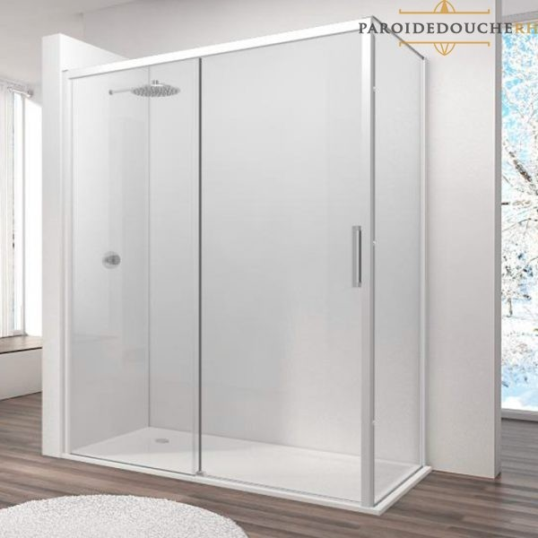 paroi-de-douche-portes-coulissantes-profil-blanc-rh1264L