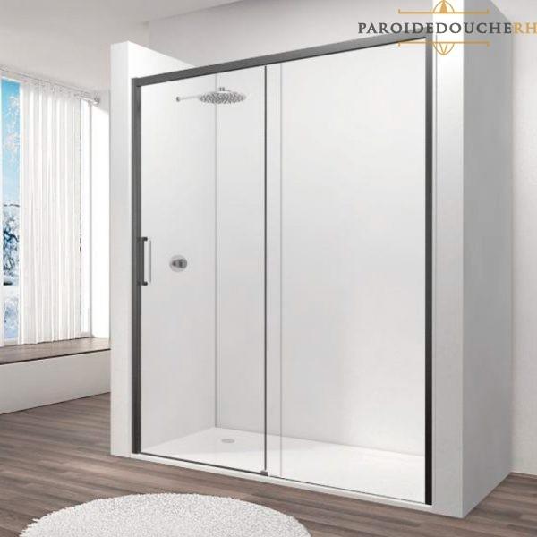 paroi-de-douche-portes-coulissantes-profil-noir-rh1264