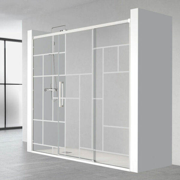 parois-de-douche-blanc-en-niche-coulissantes-style-verriere-rh1278vb