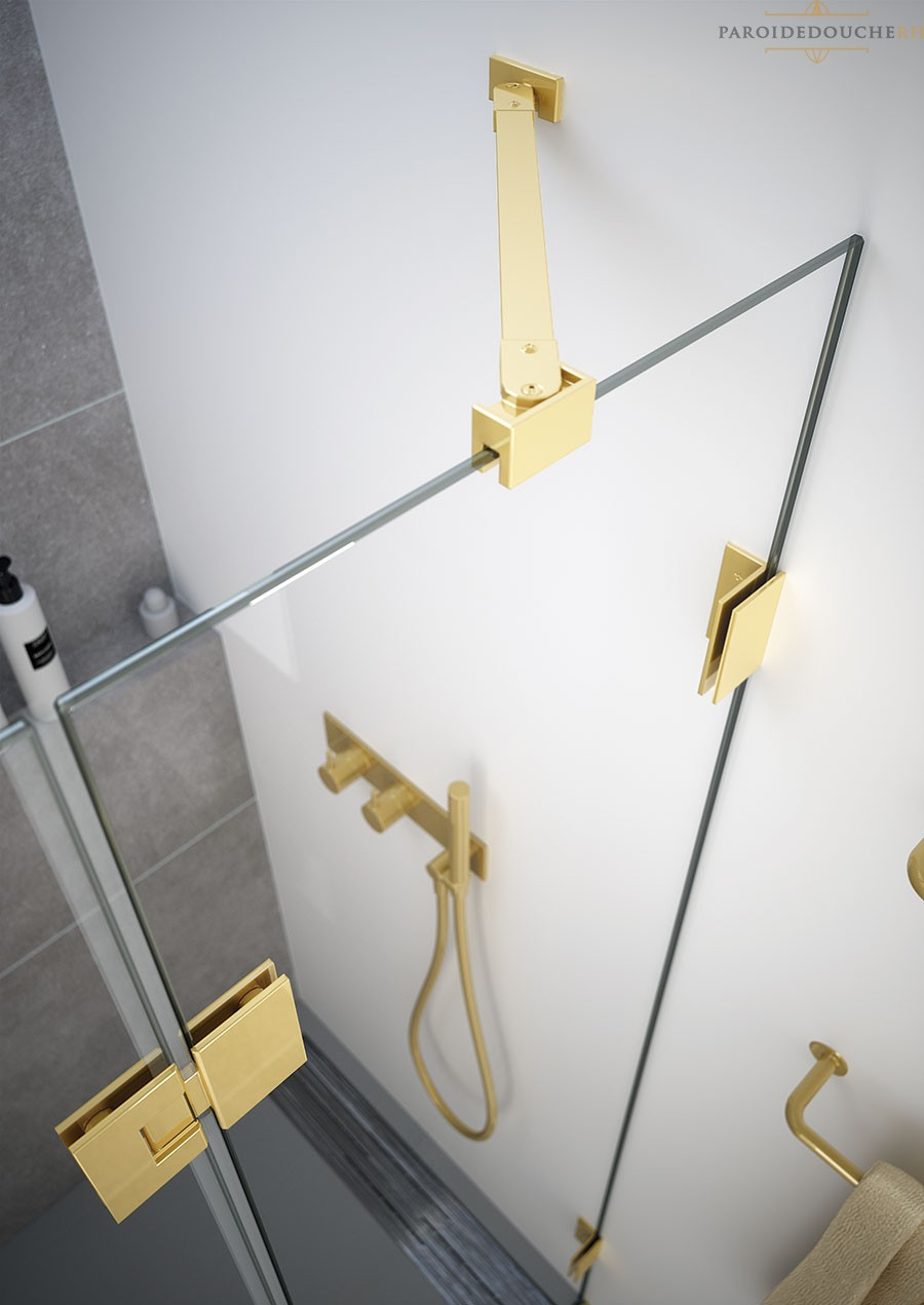accessoires paroi de douche profile dore