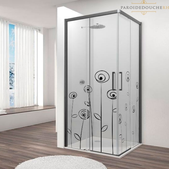 parois de douche en angle