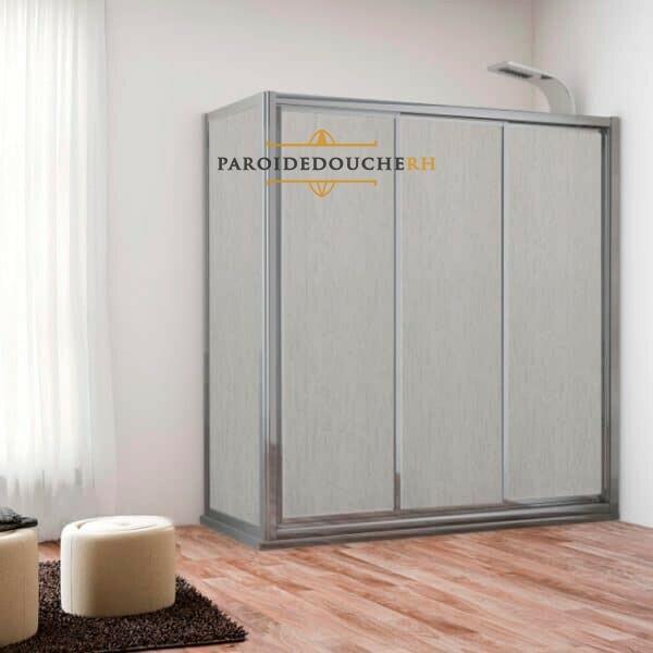 paroi-de-douche-acrylique-3-portes-coulissantes-profil-argent-brillant-fixe-rh1160-1
