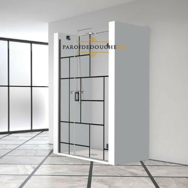 paroi-de-douche-en-niche-portes-battantes-noir-industrielle-rh1479