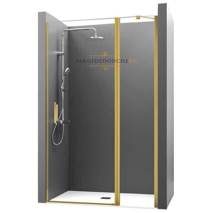 Paroi de douche sur mesure avec porte