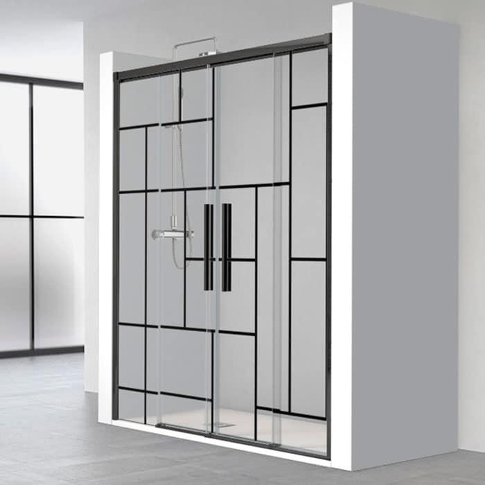 Paroi de douche style verrière design original