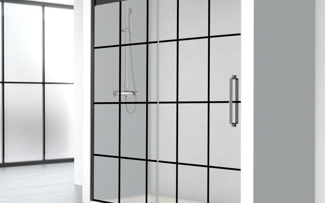 Place au gain de place et au design avec les portes de douche coulissantes