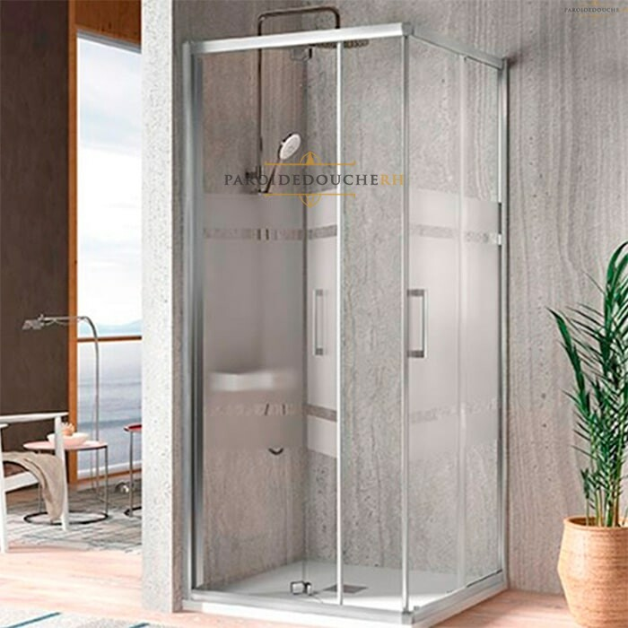 Portes de douche coulissantes arrondies spéciales