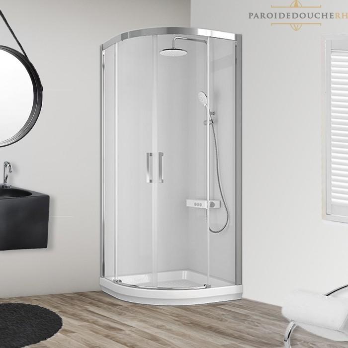 Portes de douche coulissantes arrondies standards