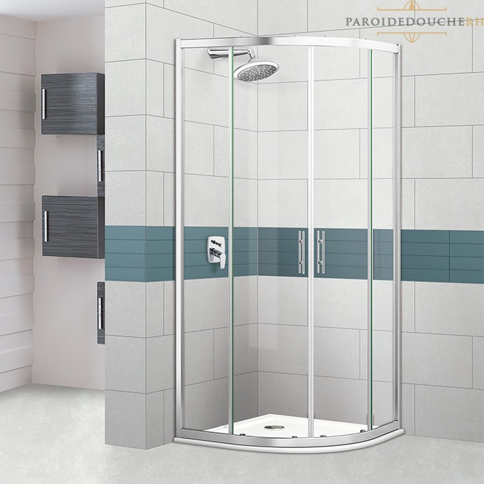 Portes de douche coulissantes arrondies sur mesure