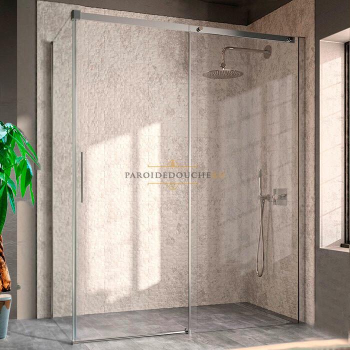 Portes de douche coulissantes en angle partie fixe